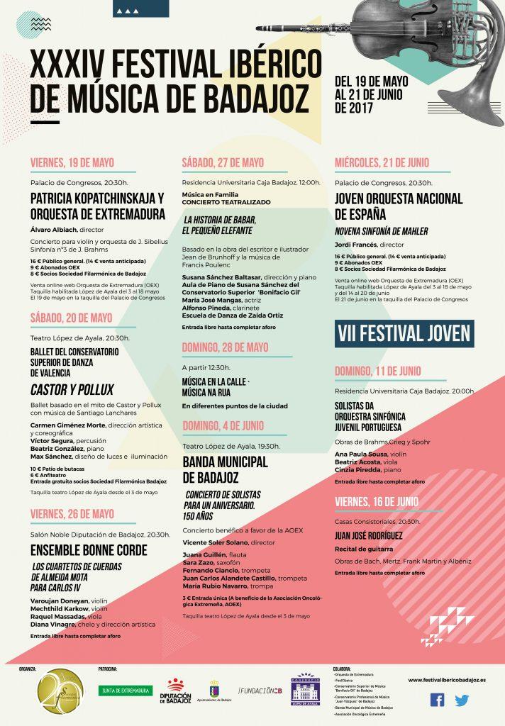 PROGRAMA FESTIVAL IBÉRICO DE MÚSICA