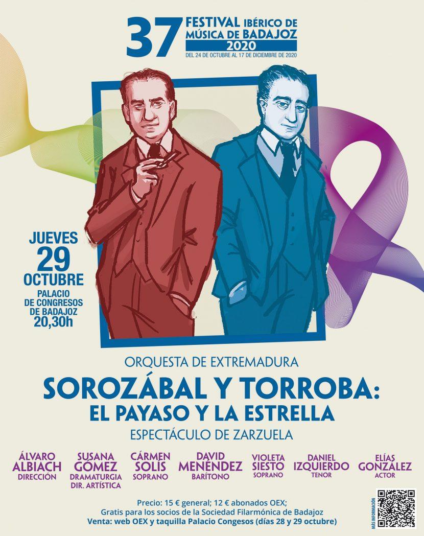 Cartel 'Sorozábal y Torroba: El payaso y la estrella'